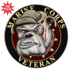 "Devil Dog Vet 3"" Lapel Sticker (48 pk)"
