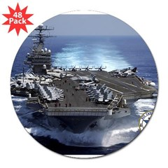 "USS Carl Vinson CVN-70 Rectangle 3"" Lapel Sticker (48 pk)"