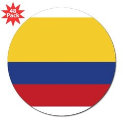 "Flag of Colombia Rectangle 3"" Lapel Sticker (48 pk)"