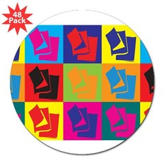 "Reading Pop Art 3"" Lapel Sticker (48 pk)"