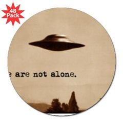 "X-Files - We Are Not Alone 3"" Lapel Sticker (48 pk)"