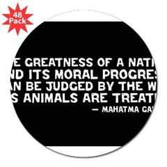 "Quote - Greatness - Gandhi Rectangle 3"" Lapel Sticker (48 pk)"