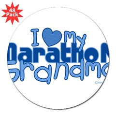 "I Love My Marathon Grandma Rectangle 3"" Lapel Sticker (48 pk)"