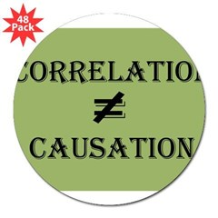 "Correlation Causation 3"" Lapel Sticker (48 pk)"