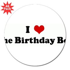 "I Love The Birthday Boy 3"" Lapel Sticker (48 pk)"