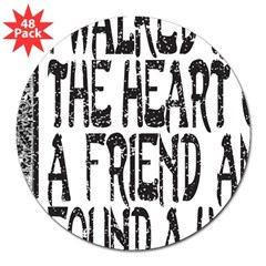 "HEART OF A FRIEND 3"" Lapel Sticker (48 pk)"