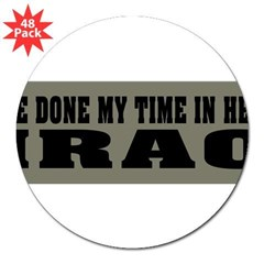"Iraq-Hell 3"" Lapel Sticker (48 pk)"