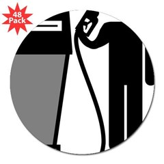 "Gas Pump Suicide Rectangle 3"" Lapel Sticker (48 pk)"