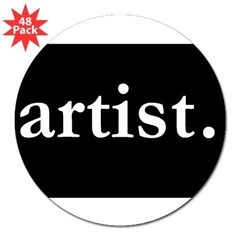 "Artist Rectangle 3"" Lapel Sticker (48 pk)"