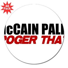 "McCain Palin - Roger That 3"" Lapel Sticker (48 pk)"