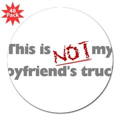 "This is Not My Boyfriend's Truck 3"" Lapel Sticker (48 pk)"
