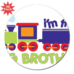 "train big brother t-shirts Rectangle 3"" Lapel Sticker (48 pk)"