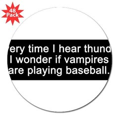 "Baseball Vampires 3"" Lapel Sticker (48 pk)"