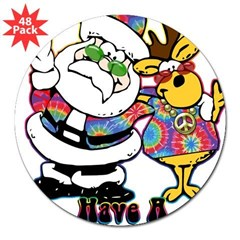 Groovy Christma 3&quot; Lapel Sticker (48 pk)