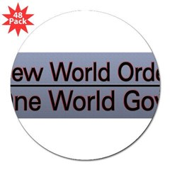 "New World Order Truth 3"" Lapel Sticker (48 pk)"
