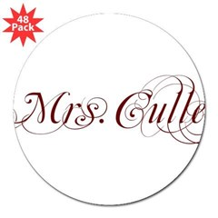 "Mrs. Cullen Rectangle 3"" Lapel Sticker (48 pk)"