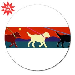 "Yellow Moon Walk 3"" Lapel Sticker (48 pk)"