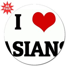 "I Love ASIANS 3"" Lapel Sticker (48 pk)"