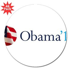 "Obama '12 3"" Lapel Sticker (48 pk)"