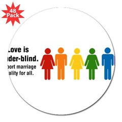 "Marriage Equality 3"" Lapel Sticker (48 pk)"