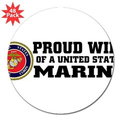 "Marine Proud Wife 3"" Lapel Sticker (48 pk)"