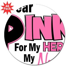 "I Wear Pink For My Nana 19 Rectangle 3"" Lapel Sticker (48 pk)"