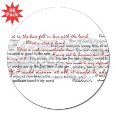"Twilight Quotes 3"" Lapel Sticker (48 pk)"