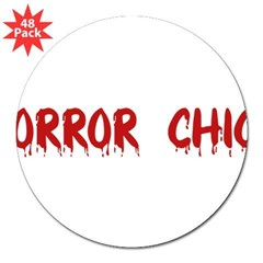 "Horror Chick Rectangle 3"" Lapel Sticker (48 pk)"