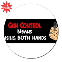 "Anti Gun Control 3"" Lapel Sticker (48 pk)"