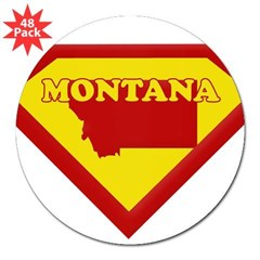 "Super Star Montana Rectangle 3"" Lapel Sticker (48 pk)"