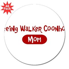 "Treeing Walker Coonhound mom 3"" Lapel Sticker (48 pk)"