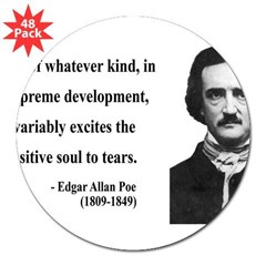 "Edgar Allan Poe 11 3"" Lapel Sticker (48 pk)"