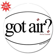 "Got Air? Oval 3"" Lapel Sticker (48 pk)"