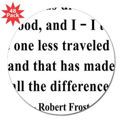 "Robert Frost 1 Rectangle 3"" Lapel Sticker (48 pk)"