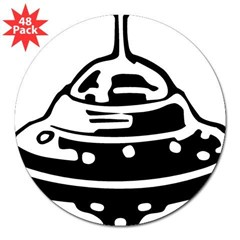 "Flying Saucer 3"" Lapel Sticker (48 pk)"