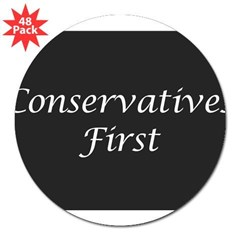 "Conservatives First Oval 3"" Lapel Sticker (48 pk)"