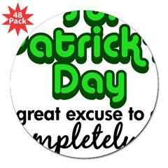"St. Patrick's Day 3"" Lapel Sticker (48 pk)"