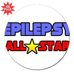 """Epilepsy All Star"" Rectangle 3"" Lapel Sticker (48 pk)"