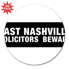 "Solicitors beware 3"" Lapel Sticker (48 pk)"