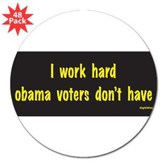 "I Work Hard 3"" Lapel Sticker (48 pk)"