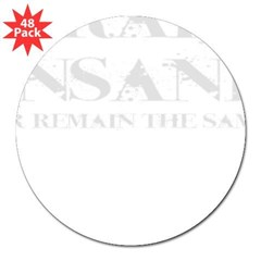 TRAIN INSANE *NEW* Oval 3&quot; Lapel Sticker (48 pk)