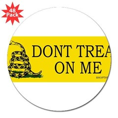 "Dont tread on me 3"" Lapel Sticker (48 pk)"