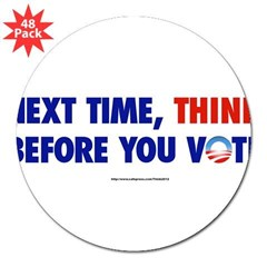 """Think 2012"" 3"" Lapel Sticker (48 pk)"