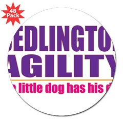 "Bedlington Terrier Agility 3"" Lapel Sticker (48 pk)"