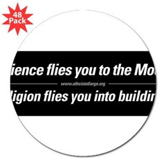 "Science vs. Religion 3"" Lapel Sticker (48 pk)"