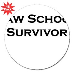 "Law School Survivor Rectangle 3"" Lapel Sticker (48 pk)"