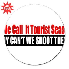 "Tourist Season 3"" Lapel Sticker (48 pk)"