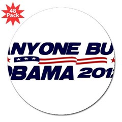 "Anyone But Obama 3"" Lapel Sticker (48 pk)"