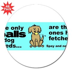 "Neuter Support 3"" Lapel Sticker (48 pk)"