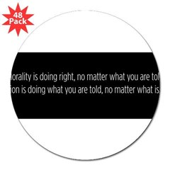 "Morality Religion 3"" Lapel Sticker (48 pk)"
